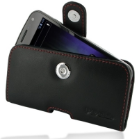 Leather Horizontal Pouch Case with Belt Clip for Samsung Galaxy Nexus GT-i9250 SCH-i515 (Red Stitch)