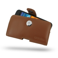Leather Horizontal Pouch Case with Belt Clip for Samsung Galaxy S II Epic 4G Touch SPH-D710 (Brown)