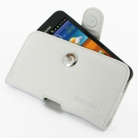 Leather Horizontal Pouch Case with Belt Clip for Samsung Galaxy S II Epic 4G Touch SPH-D710 (White)
