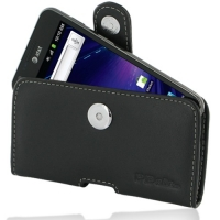Leather Horizontal Pouch Case with Belt Clip for Samsung Galaxy S II LTE SGH-i727R (Black)