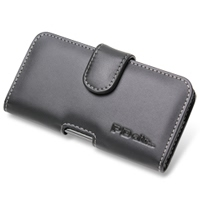Samsung Galaxy S2 WiMAX Leather Holster Case (Black) PDair Premium Hadmade Genuine Leather Protective Case Sleeve Wallet