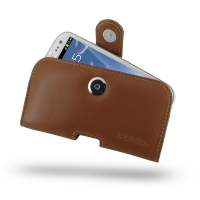 Leather Horizontal Pouch Case with Belt Clip for Samsung Galaxy S III S3 GT-i9300 (Brown)