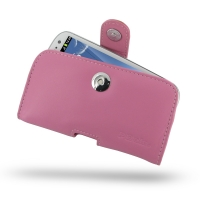 Leather Horizontal Pouch Case with Belt Clip for Samsung Galaxy S III S3 GT-i9300 (Petal Pink)