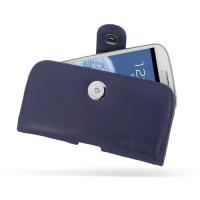 Leather Horizontal Pouch Case with Belt Clip for Samsung Galaxy S III S3 GT-i9300 (Purple)