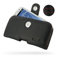 Leather Horizontal Pouch Case with Belt Clip for Samsung Galaxy S III S3 GT-i9300 (Red Stitch)