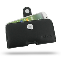 Leather Horizontal Pouch Case with Belt Clip for Samsung Galaxy S4 SIV LTE GT-i9500 GT-i9505