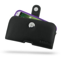 Leather Horizontal Pouch Case with Belt Clip for Samsung Galaxy S4 SIV LTE GT-i9500 GT-i9505 ( Compatible with 1.0 mm Slim Case / Cover on )