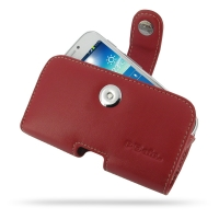 Leather Horizontal Pouch Case with Belt Clip for Samsung Galaxy S4 zoom SM-C1010 (Red)