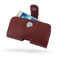 Leather Horizontal Pouch Case with Belt Clip for Samsung Galaxy S4 zoom SM-C1010 (Red Crocodile Pattern)