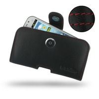 Leather Horizontal Pouch Case with Belt Clip for Samsung Galaxy Win Duos GT-i8550 GT-i8552 (Red Stitch)