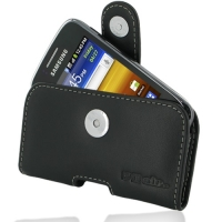 Leather Horizontal Pouch Case with Belt Clip for Samsung Galaxy Y Duos GT-S6102