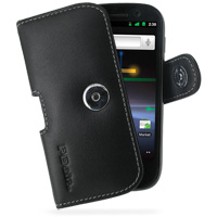 Leather Horizontal Pouch Case with Belt Clip for Samsung Google Nexus S GT-i9020T i9023 (Black)