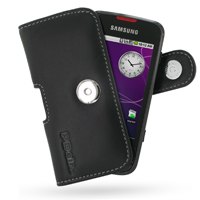Leather Horizontal Pouch Case with Belt Clip for Samsung i5700 Galaxy Spica (Black)