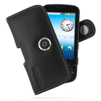 Leather Horizontal Pouch Case with Belt Clip for Samsung i7500 Galaxy (Black)