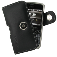 Leather Horizontal Pouch Case with Belt Clip for Samsung Jack SGH-i637 (Black)