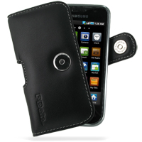 Leather Horizontal Pouch Case with Belt Clip for Samsung Vibrant Galaxy S SGH-T959 (Black)