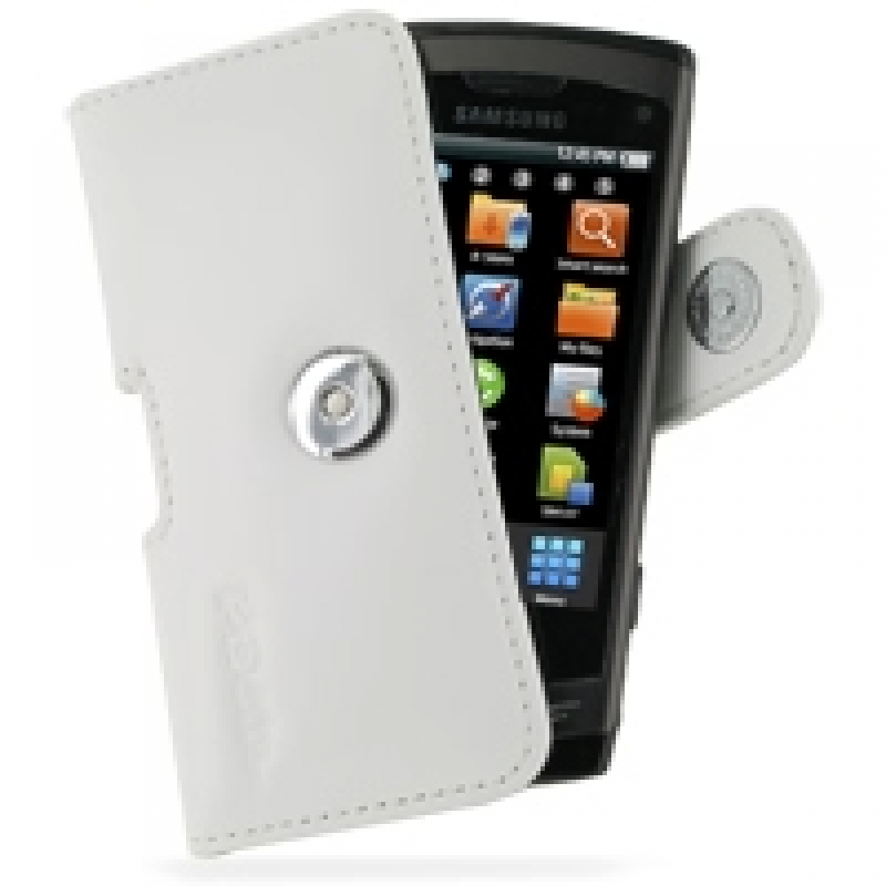 samsung wave gt s8500 leather holster case white. Black Bedroom Furniture Sets. Home Design Ideas