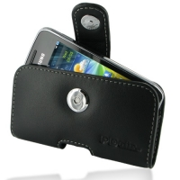 Leather Horizontal Pouch Case with Belt Clip for Samsung Wave Y GT-S5380 (Black)