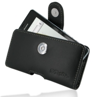 Leather Horizontal Pouch Case with Belt Clip for Sharp AQUOS PHONE f SH-13C (Black)