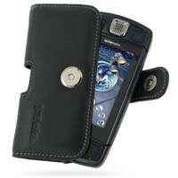 Leather Horizontal Pouch Case with Belt Clip for Sidekick LX (Black)