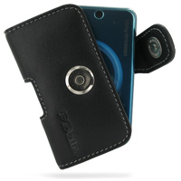 Sony Ericsson T707 Leather Holster Case (Black) PDair Premium Hadmade Genuine Leather Protective Case Sleeve Wallet