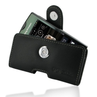 Sony Ericsson Xperia Ray Leather Holster Case (Black) PDair Premium Hadmade Genuine Leather Protective Case Sleeve Wallet