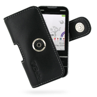 Leather Horizontal Pouch Case with Belt Clip for Sony Ericsson Yari U100 (Black)