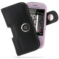 Sony Ericsson Zylo Leather Holster Case (Black) PDair Premium Hadmade Genuine Leather Protective Case Sleeve Wallet