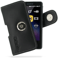 Leather Horizontal Pouch Case with Belt Clip for Sony Walkman NWZ-X1050 NWZ-X1060 NWZ-X1000