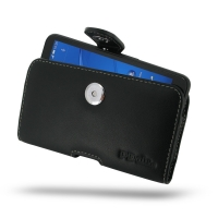 Leather Horizontal Pouch Case with Belt Clip for Sony Xperia E4 Dual E2104