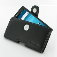 Leather Horizontal Pouch Case with Belt Clip for Sony Xperia Ion LT28i