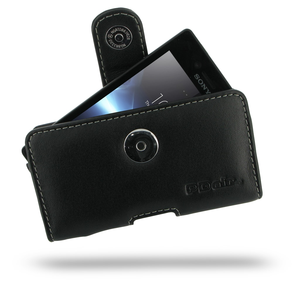 10% OFF + FREE SHIPPING, Buy Best PDair Top Quality Handmade Protective Sony Xperia Miro Leather Holster Case (Black) online. Pouch Sleeve Holster Wallet You also can go to the customizer to create your own stylish leather case if looking for additional c