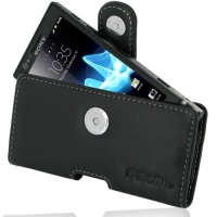 Sony Xperia P Leather Holster Case PDair Premium Hadmade Genuine Leather Protective Case Sleeve Wallet
