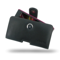 Sony Xperia SP (in Slim Cover) Holster Case PDair Premium Hadmade Genuine Leather Protective Case Sleeve Wallet