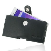 Leather Horizontal Pouch Case with Belt Clip for Sony Xperia T3