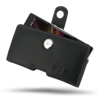 Leather Horizontal Pouch Case with Belt Clip for Sony Xperia Z L36H