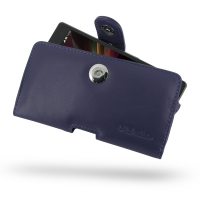 Leather Horizontal Pouch Case with Belt Clip for Sony Xperia Z L36H (Purple)