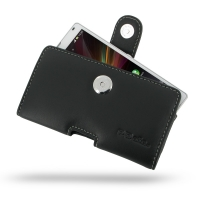 Leather Horizontal Pouch Case with Belt Clip for Sony Xperia ZL L35H