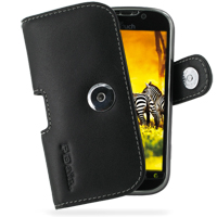 T-Mobile HTC myTouch 4G Leather Holster Case (Black) PDair Premium Hadmade Genuine Leather Protective Case Sleeve Wallet