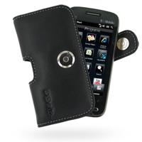 Leather Horizontal Pouch Case with Belt Clip for T-Mobile HTC Touch Pro2 (Black)