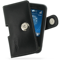 Leather Horizontal Pouch Case with Belt Clip for Toshiba Portege G810 (Black)