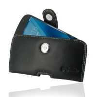 Leather Horizontal Pouch Case with Belt Clip for YOTAPHONE 2