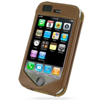Leather Sleeve Case for Apple iPhone 3G | iPhone 3Gs (Brown)