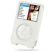 iPod Classic 2nd Leather Sleeve Case (White) PDair Premium Hadmade Genuine Leather Protective Case Sleeve Wallet