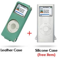 iPod nano 2nd Leather Sleeve Case (Aqua) PDair Premium Hadmade Genuine Leather Protective Case Sleeve Wallet