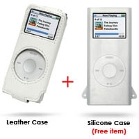 iPod nano 2nd Leather Sleeve Case (White) PDair Premium Hadmade Genuine Leather Protective Case Sleeve Wallet