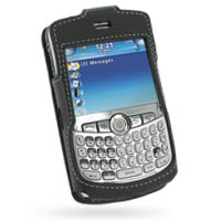 Leather Sleeve Case for BlackBerry Curve 8300 (Black)