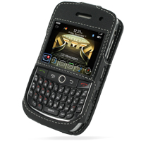 Leather Sleeve Case for BlackBerry Curve 8900 Javelin (Black)