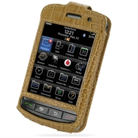 Leather Sleeve Case for BlackBerry Storm 9500 9530 (Brown Crocodile Pattern)