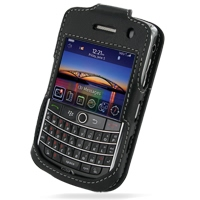 Leather Sleeve Case for BlackBerry Tour 9630 (Black)